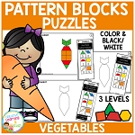 Pattern Block Puzzles: Food - Vegetables ~Digital Download~
